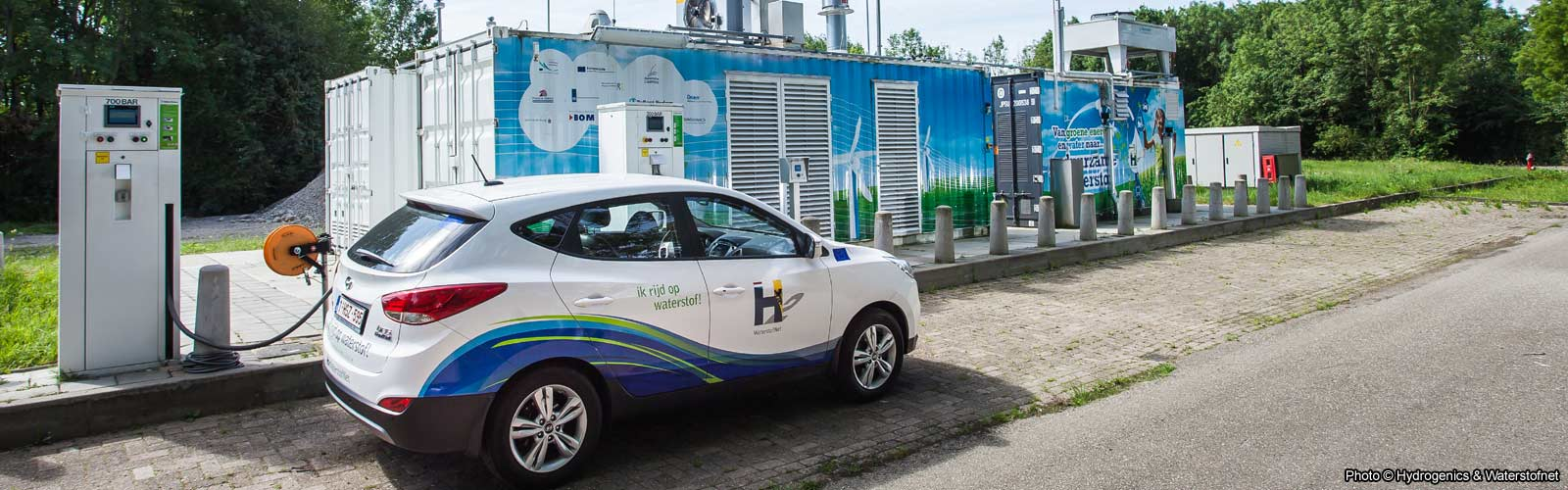 Hydrogen car filling station